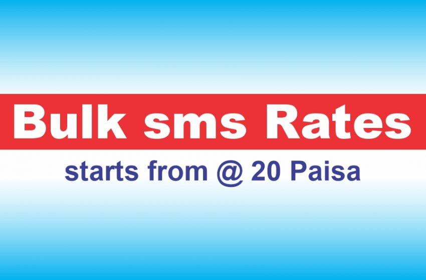 Bulk SMS Rate Card