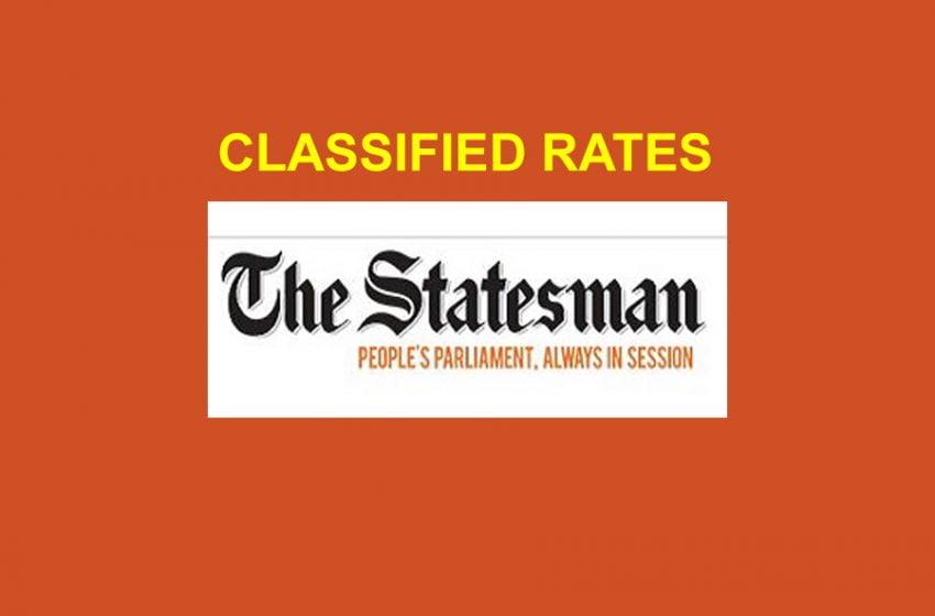 The Statesman & Dainik Statesman Rate Card